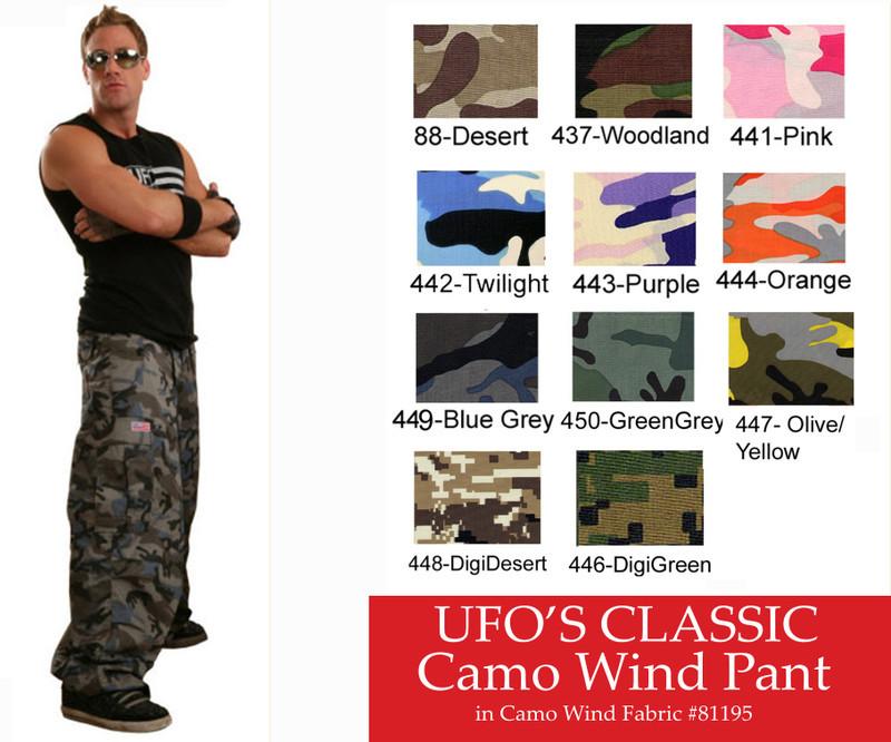 Digital Green UFO Classic Camo Wind Pant